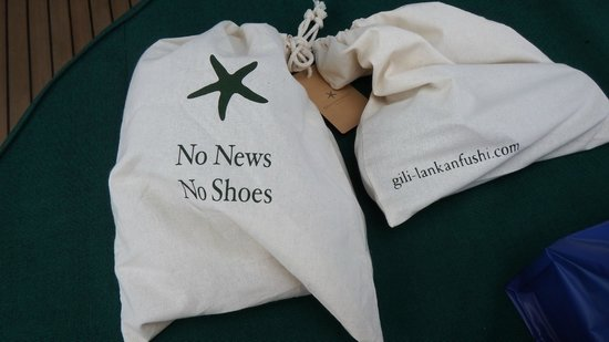 Gili Lankanfushi Maldives: No News No Shoes!