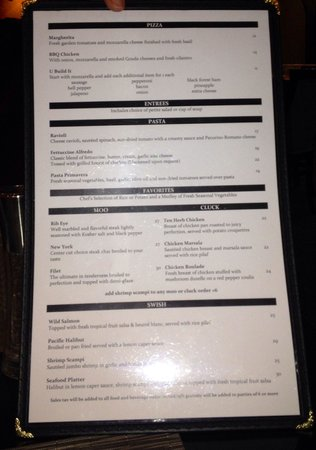 Crowne Plaza Costa Mesa Orange County: Savoy restaurant menu