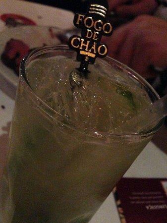 Fogo de Chao Brazilian Steakhouse: Fogo de Chao's house drink - a Brazilian caipirinha