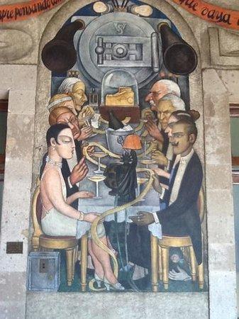 Murales de Diego Rivera en la Secretaría de Educacion Publica: Observations on the wealthy