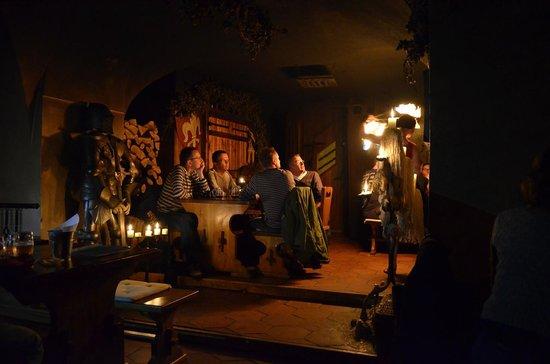 tavern of seven Swabians: Стол у входа и свеча