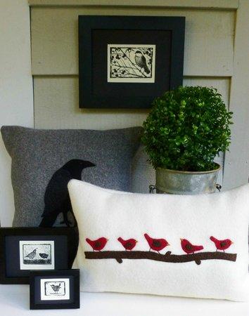Wren House Garden & Shop: Fibre art, linocut prints, rosemary and boxwood