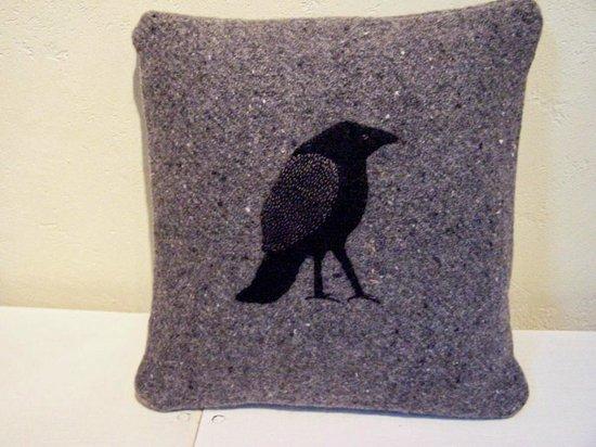 Wren House Garden & Shop: Raven pillow
