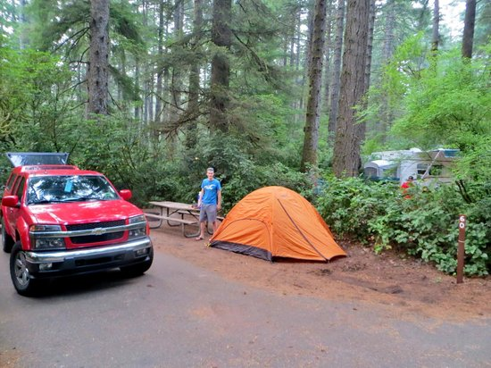 Jessie M. Honeyman Memorial State Park: Our small tent site