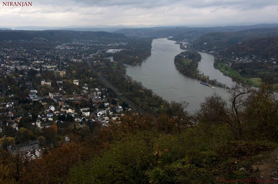Drachenfels: View from top - River Rhein