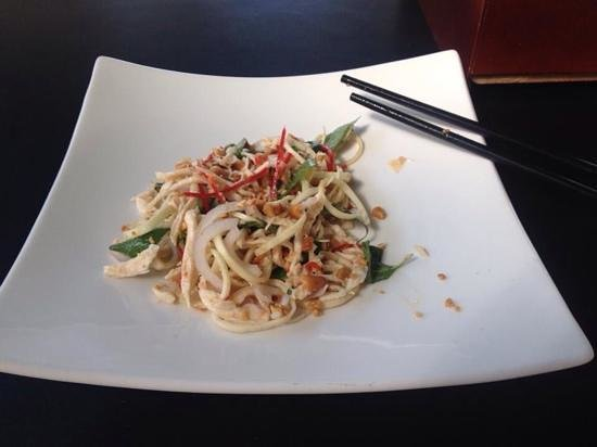 Cambodia Cooking Class: banana blossom and chicken salad - absolutely delicious