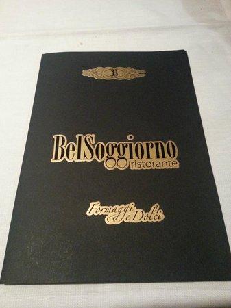menu - picture of bel soggiorno, san gimignano - tripadvisor - Hotel Bel Soggiorno San Gimignano Tripadvisor