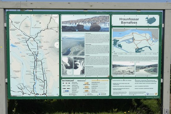 Steindorsstadir Guesthouse: Barnafoss indications and map
