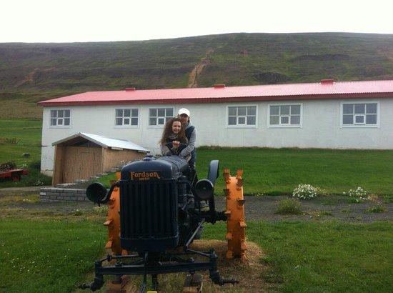 Bjarnargerdi Guesthouse : вот на таком тракторе пахали каменную целину совсем недавно