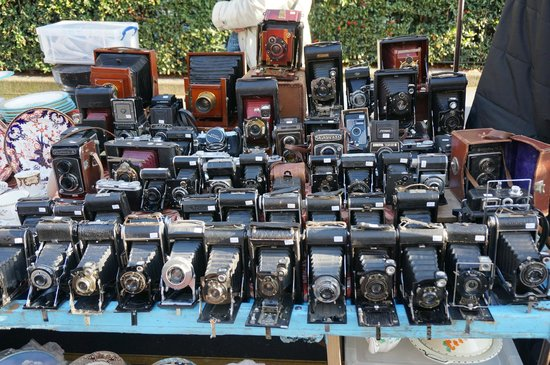 Portobello Road Market: the cameras