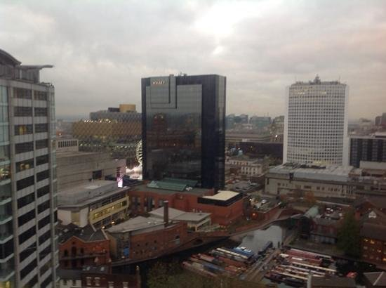 Jurys Inn Birmingham : view from 15th floor