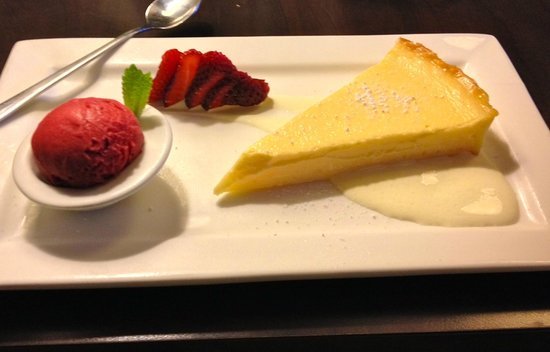 ... Issan: Lemon tart with raspberry sorbet (instead of vanilla ice cream