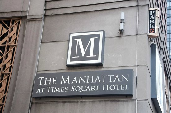 The Manhattan at Times Square Hotel : Look for the M