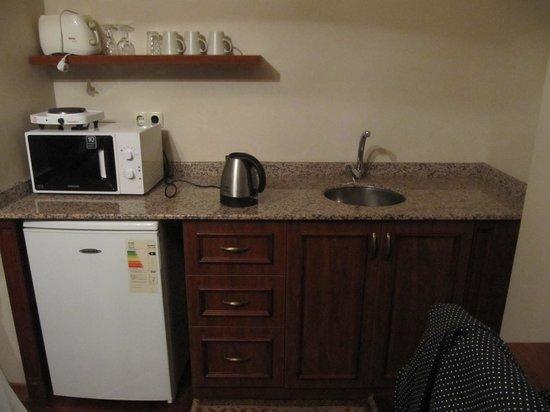 Tashkonak Studio Suites : Well equipped kitchen
