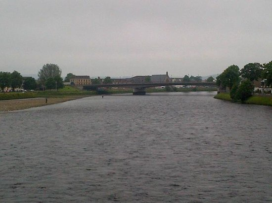 River Ness on a rainy day