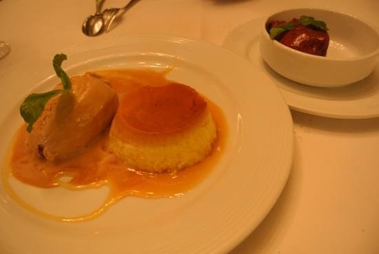 Fervor: Creme caramel with dulce de leche ice cream
