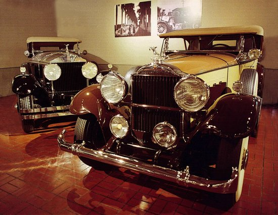 Gilmore Car Museum: Rools Royce and Packard from regular collection