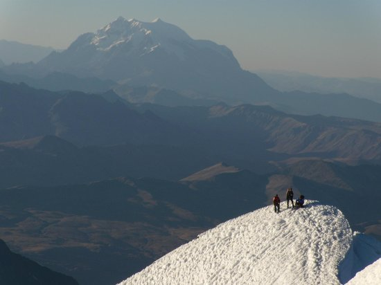 Summit of Huayna Potosi with Illimani