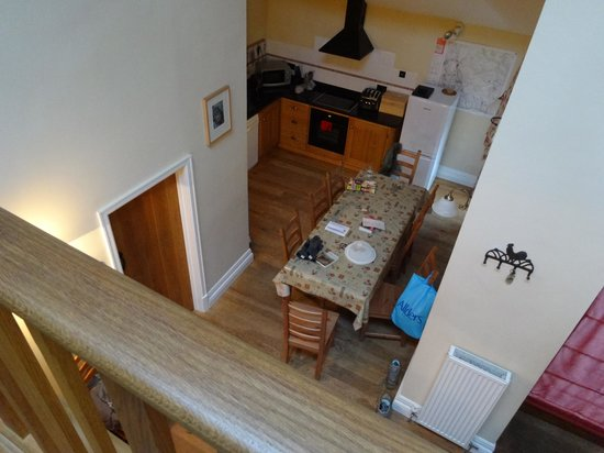 Rushop Hall: View of Kitchen from upstairs