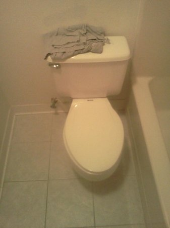 Super 8 Fredericksburg: Here is the toilet that is in the wrong place