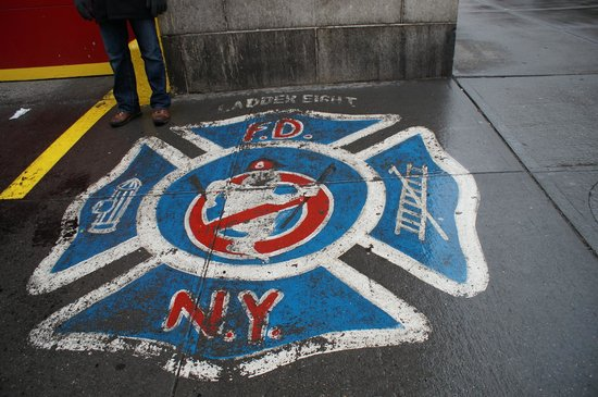 GhostBusters Firestation: right outside the station