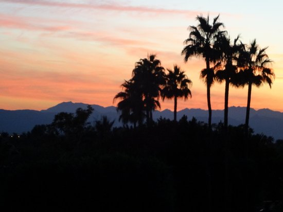 J & G Steakhouse at the Phoenician: Our view from the patio