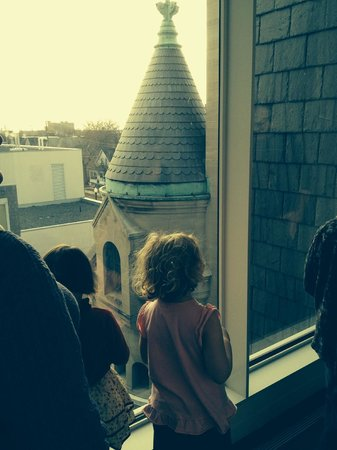 American Swedish Institute: Looking out at one of steeples