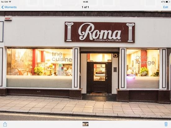 Cafe Roma: Front of Roma