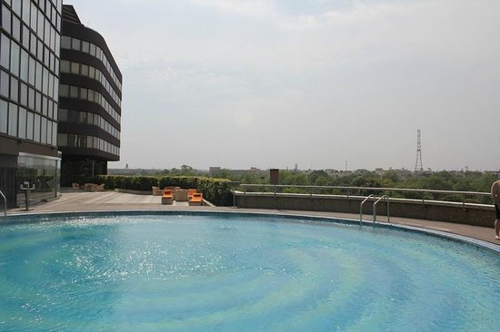 Le Meridien New Delhi: бассейн с приятным видом
