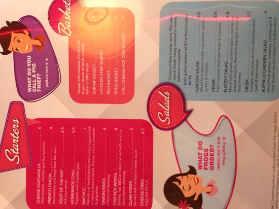 Menu page 2 - The Diner