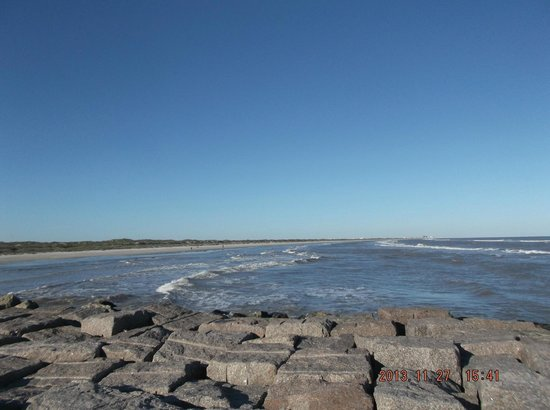 Mustang Island State Park: Mustang Island view
