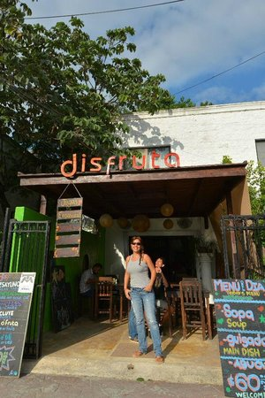 Disfruta: Proprietor Yula is justifiably proud of her restaurant