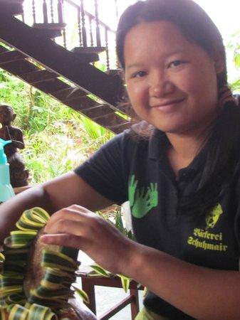 Joy's House: staff help making our krathongs