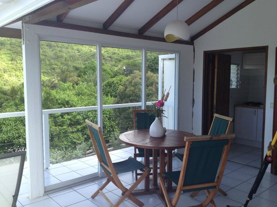 Hotel Le Village St Barth : The TERRACE cottage just above our lower level standard GARDEN cottage unit 21