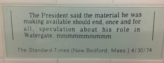 Newseum : One of the misspeaking and misprinted quotes in the restrooms