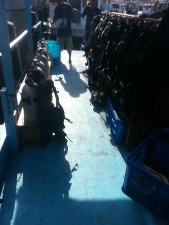 Bajo Dive Club: the boat