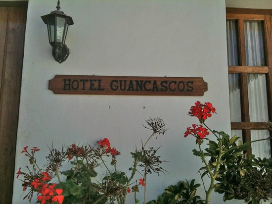 Hotel & Restaurant Guancascos: Front Entrance Sign