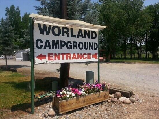 Worland RV Park & Campground: Worland Campground entrance