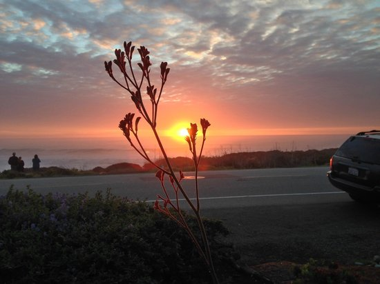 Cambria Landing Inn & Suites: Outstanding sunsets.