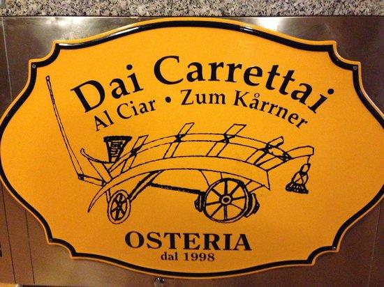 Osteria dai Carrettai: carro