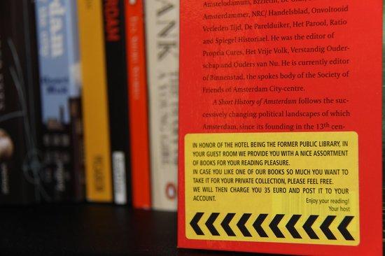 Andaz Amsterdam Prinsengracht: Os livros estão a venda