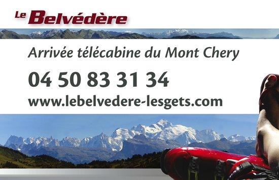 Le Belvedere: Carte visite verso
