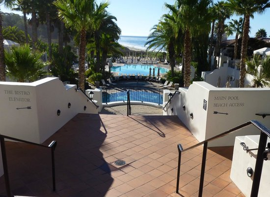 Bacara Resort & Spa: View from within resort to ocean