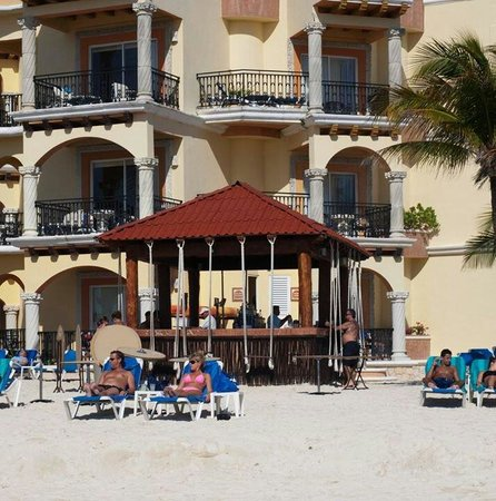 Real Playa del Carmen: Hotellets strandbar