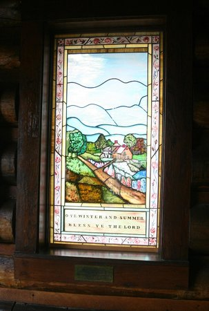 Chapel of the Transfiguration: Stained Glass at entrance - right