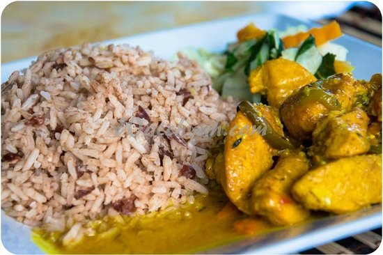 Curry Chicken W Rice Peas Steam Veg Picture Of Mongoose
