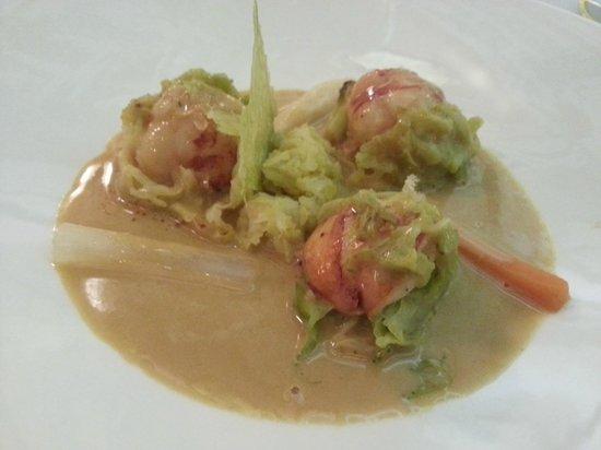 """Le Refuge des Gourmets: queue de homard, comme """"une potée"""""""