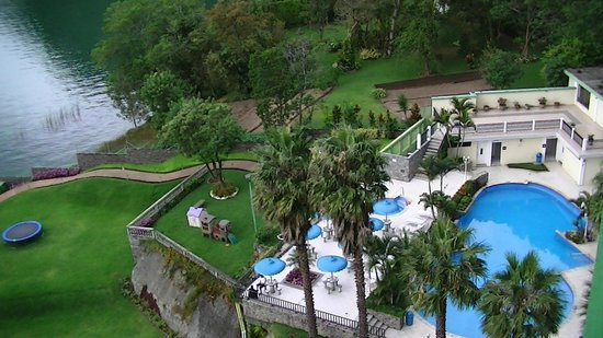 Hotel La Riviera de Atitlan: vue de ma chambre