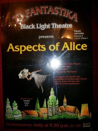 Ta Fantastika Black Light Theatre: Cartaz - Aspects of Alice - Ta Fantastika