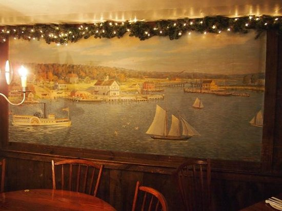 Griswold Inn ~ Dining: art inside the restaurant